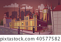 London plague epidemic vector cartoon illustration 40577582