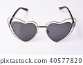 Modern fashionable sunglasses on white background 40577829