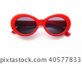 Modern fashionable sunglasses on white background 40577833