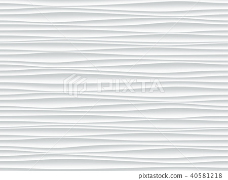 White wave pattern vector abstract 3D background - Stock
