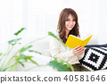 讀一本書的女人 40581646