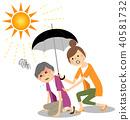 노인 여성 열사병 40581732