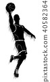basketball player silhouette 40582364
