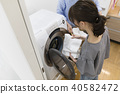 laundry, lifestyle, female 40582472