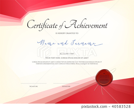 certificate template border frame diploma design stock
