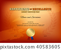 certificate, template, vector 40583605