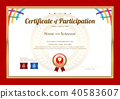 Certificate template in basketball sport theme 40583607