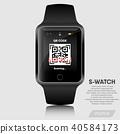 Realistic smart watch modern design  40584173