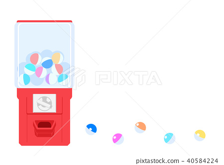 Illustration of a piece and capsule of white background 40584224