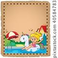 parchment, girl, child 40584783