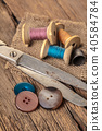 scissors and sewing accessories 40584784
