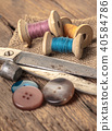 scissors and sewing accessories 40584786