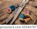 scissors and sewing accessories 40584787