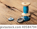 spool of threads and buttons 40584794