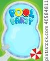 pool, party, theme 40584811