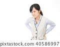 Women suffering from low back pain 40586997