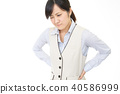 Women suffering from low back pain 40586999