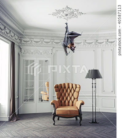 The Bat As A Ceiling Lamp