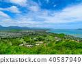 """하와이 오아후 카일루아 라니 카이 비치 '천국의 바다 """" 40587949"""