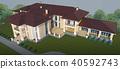 ภายนอก,ออกแบบ,บ้าน 40592743