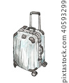 Suitcases for travel on white background 40593299