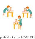 set pediatrician baby 40593393