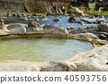 온천, 봄, 풍경 40593756