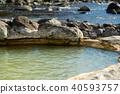 온천, 봄, 풍경 40593757