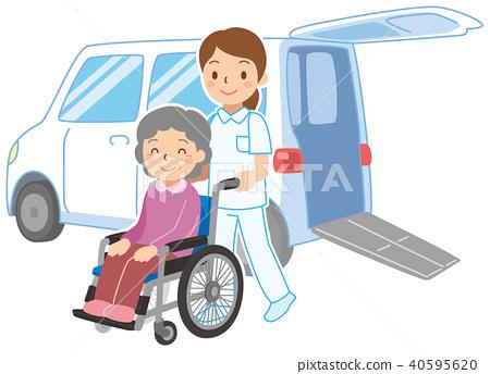 휠체어 사양 차로 픽업 40595620