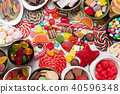 Colorful sweets. Lollipops and candies 40596348