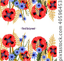 flower, pattern, poppy 40596453