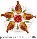 chicken drumstick roasted 40597387
