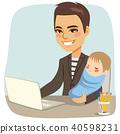 父亲 爸爸 婴儿 40598231