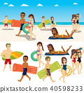 Summer Beach People Collection 40598233