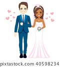 couple, bride, groom 40598234
