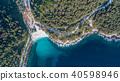 Marble beach (Saliara beach). Thassos, Greece 40598946