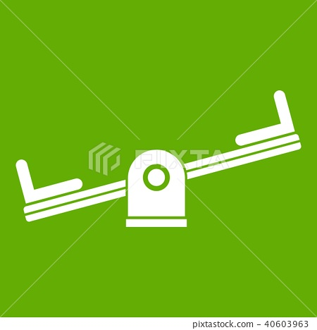 Seesaw icon green 40603963