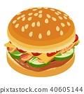 burger, icon, logo 40605144