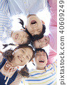 俯瞰視圖 孩子 兒童的 40609249