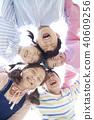 俯瞰視圖 孩子 兒童的 40609256