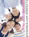 公園 俯瞰視圖 孩子 40609273