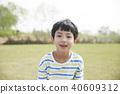 공원, 남자, 미소 40609312