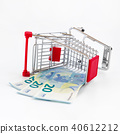 Shopping cart with euro banknotes 40612212