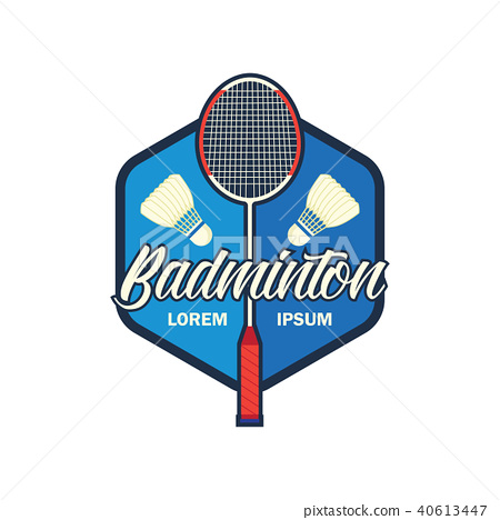 badminton logo, vector illustration 40613447