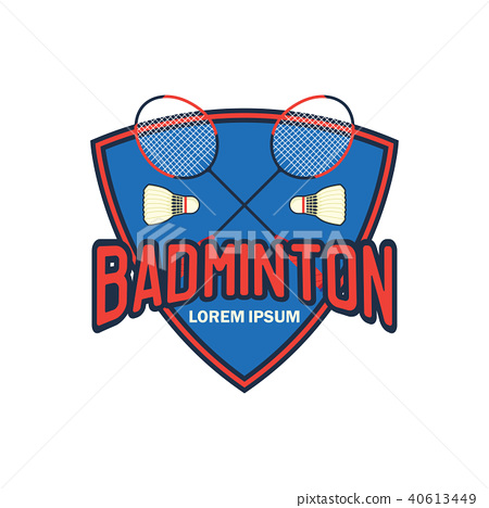 badminton logo, vector illustration 40613449