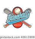 baseball logo, vector illustration 40613908