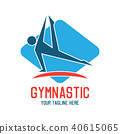 gymnastic sport logo, vector illustration 40615065