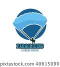 paragliding logo, vector illustration 40615090