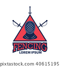 fencing logo, vector illustration 40615195