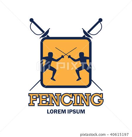 fencing logo, vector illustration 40615197